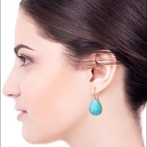 Saachi Faceted Turquoise Drop Earrings